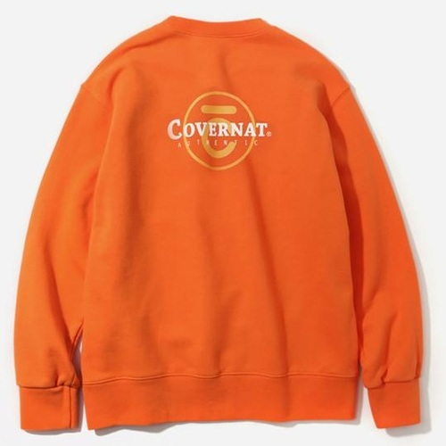 커버낫 크루넥_OVERLAP LOGO CREWNECK-ORANGE