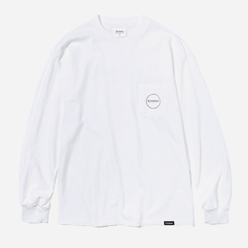 커버낫 긴팔티_L/S AUTHENTIC LOGO TEE-WHITE