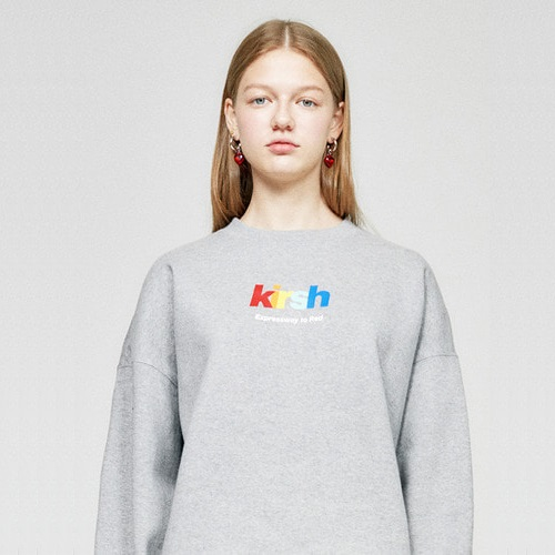 키르시 크루넥_RAINBOW LOGO SWEATSHIRT HA-GREY