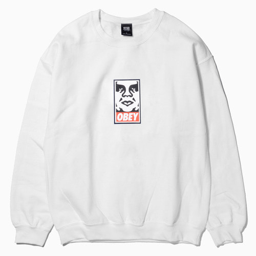 OBEY 오베이 크루넥_OBEY ICON FACE CREWNECK-WHITE