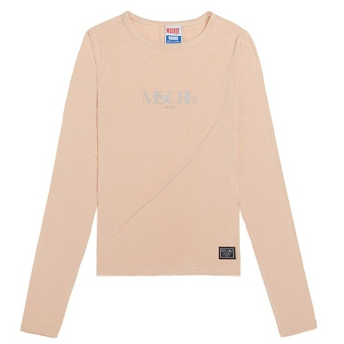 MISCHIEF 미스치프 긴팔티_FITTED LONG SLEEVE-BEIGE