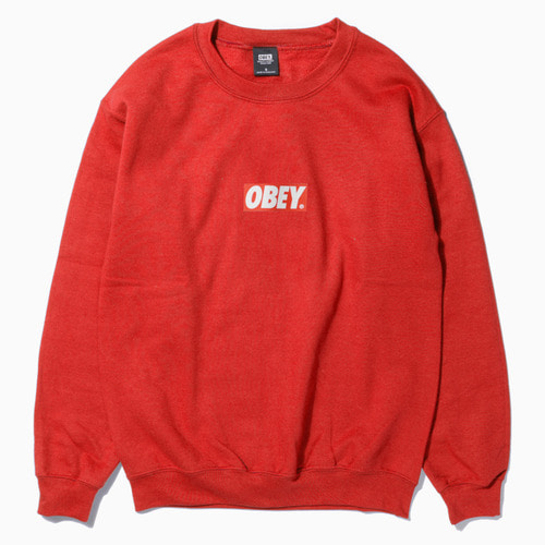 OBEY 오베이 크루넥_OBEY BAR LOGO CREWNECK-RED
