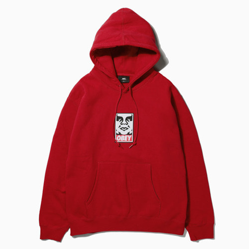 오베이 후드티 OBEY ICON FACE HOOD-RED