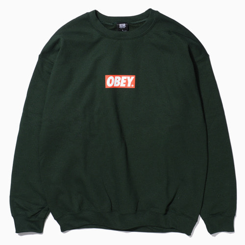 OBEY 오베이 크루넥_OBEY BAR LOGO CREWNECK-FOREST GREEN