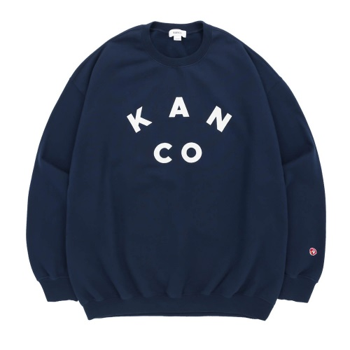 KANCO 칸코 크루넥_KANCO COLLEGE LOGO SWEATSHIRT-NAVY