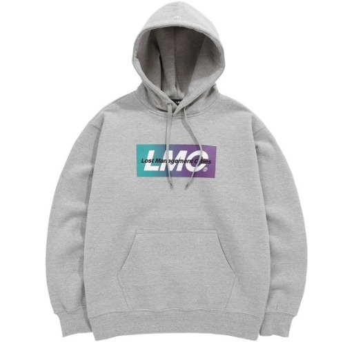 엘엠씨 후드_LMC GRADATION LOGO HOODIE-HEATHER GREY
