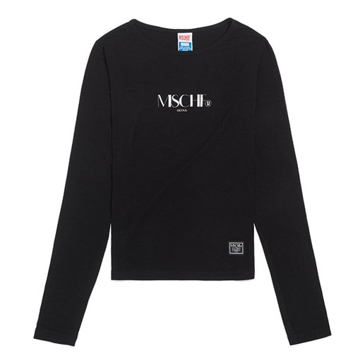 MISCHIEF 미스치프 긴팔티_FITTED LONG SLEEVE-BLACK