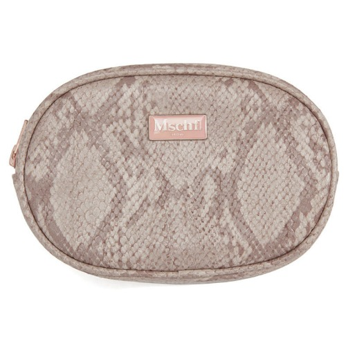 MISCHIEF 미스치프 파우치_FAUX LEATHER POUCH-FAUX PYTHON PINK