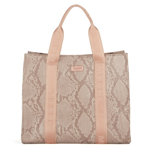 MISCHIEF 미스치프 토트백_FAUX LEATHER TOTE BAG-FAUX PYTHON PINK