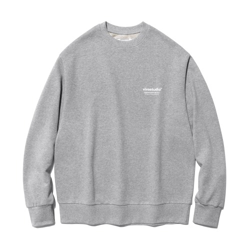 비바스튜디오 맨투맨 LOCATION LOGO CREWNECK IS(ISVT20)-MELANGE