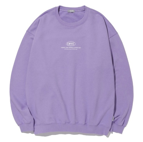 LIFUL 라이풀 맨투맨_LIFUL MINI OVAL LOGO SWEATSHIRT-PURPLE
