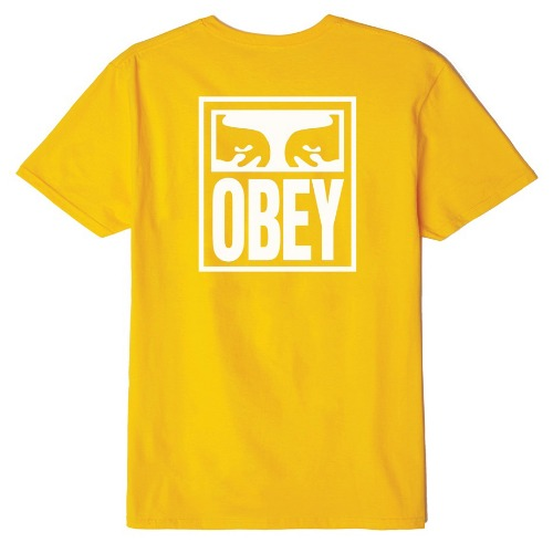 OBEY 오베이 반팔티_OBEY EYES ICON TEE-GOLD
