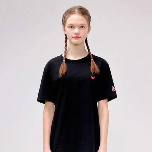 키르시 반팔티_HEAR CHERRY TEE IS-BLACK