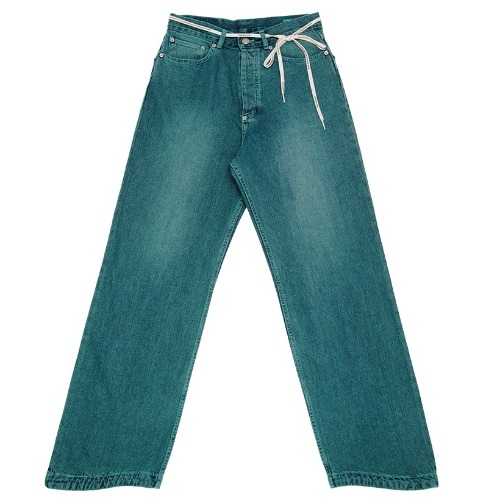 87MM 엠엠엘지 바지_WAVE RELAX JEANS-GREEN BLUE