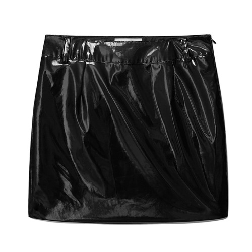 키르시 스커트_H LINE SKIRT IS-BLACK