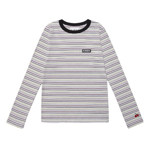 키르시 반팔티_STRIPE TEE IS-BLACK