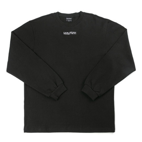 아임낫어휴먼비잉 긴팔티_INSPIRED POINT LONG SLEEVE TEE-BLACK