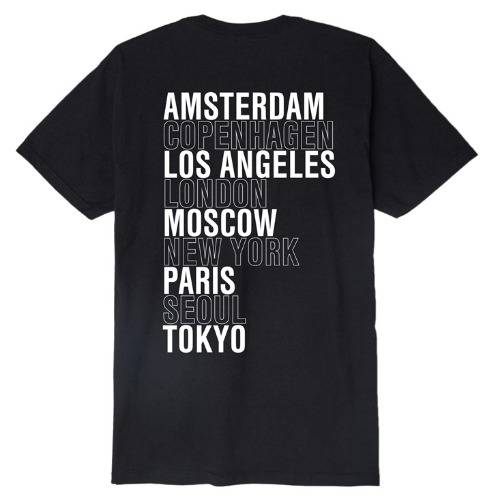 OBEY 오베이 반팔티_OBEY INTL. CITIES TEE-BLACK