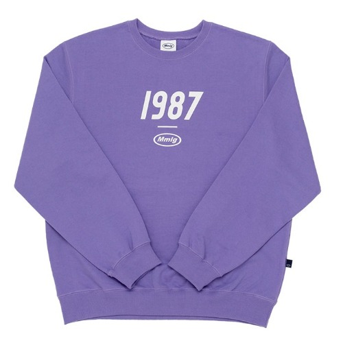 87MM 엠엠엘지 맨투맨_1987MMLG SWEAT-LAVENDER