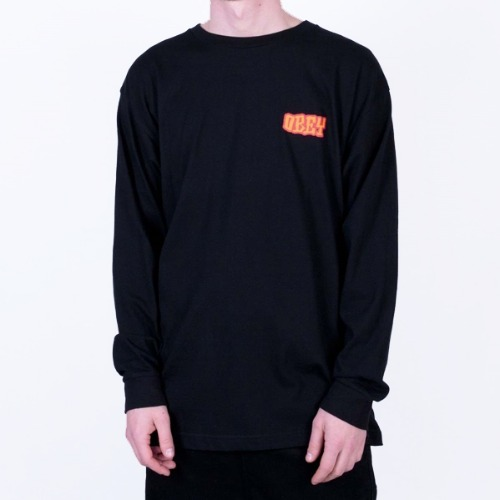 OBEY 오베이 긴팔티_SEVEN FOUR L/S-BLACK