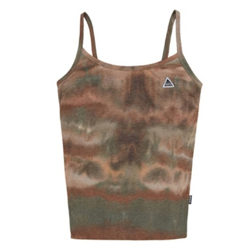 미스치프 티셔츠 TIE-DYED CAMISOLE-BROWN/GREEN