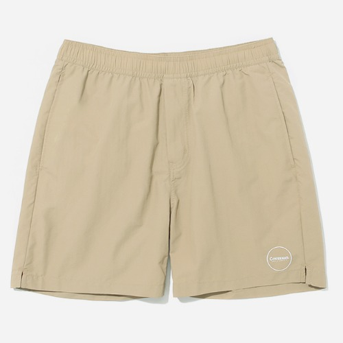 커버낫 바지 CIRCLE LOGO SHORE SHORTS-BEIGE