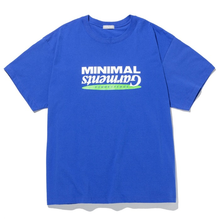 라이풀 반팔티 MINIMAL GRAPHIC LOGO TEE-BLUE