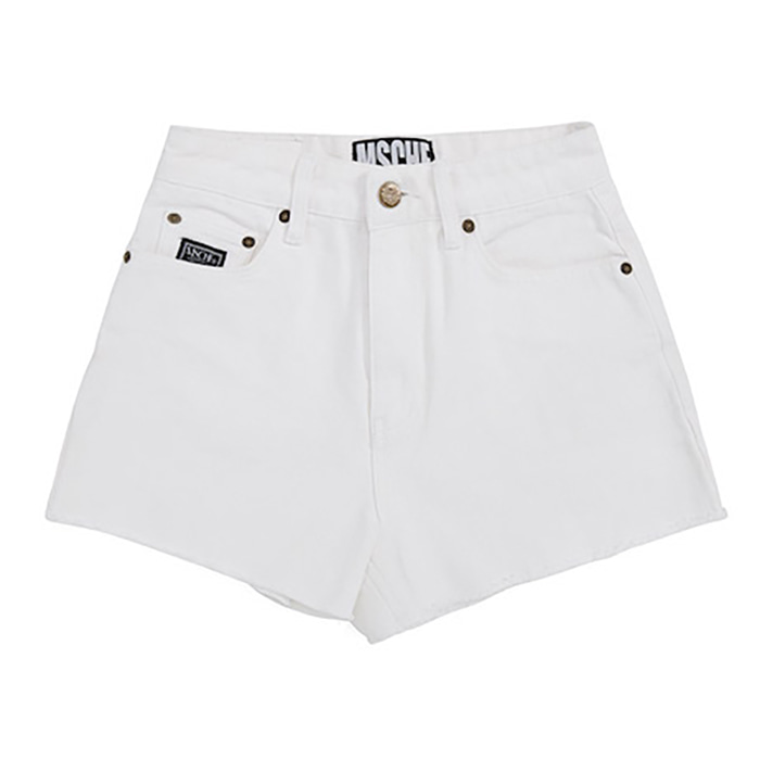 미스치프 바지 STITCH DENIM SHORTS-WHITE