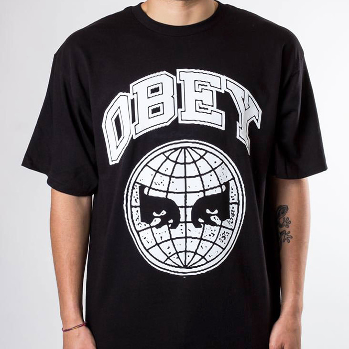 오베이 반팔티 OBEY ICON PLANET TEE-BLACK