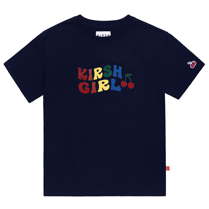 키르시 반팔티 KIRSH GIRL RAINBOW TEE IH-NAVY