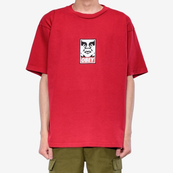 오베이 반팔티 OBEY ICON FACE TEE-FIRE RED