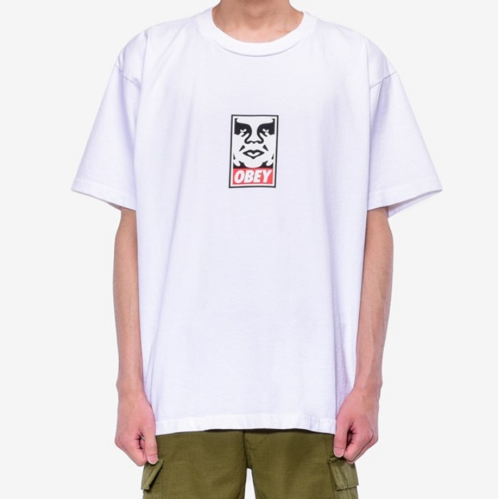 오베이 반팔티 OBEY ICON FACE TEE-WHITE