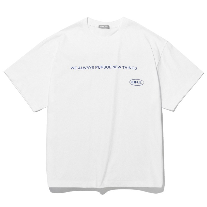 라이풀 반팔티 SLOGAN OVAL LOGO TEE-SNOW WHITE