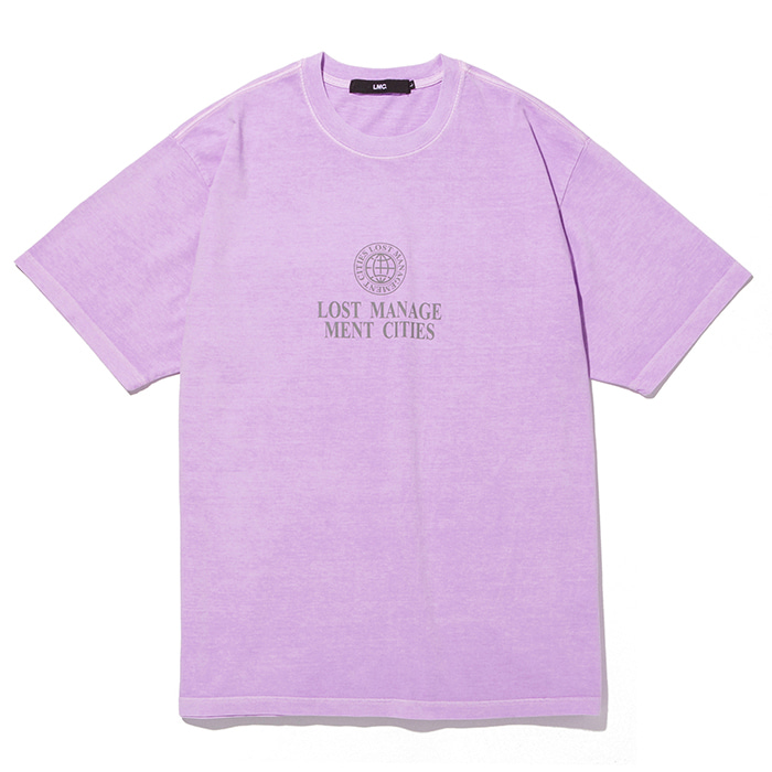 엘엠씨 반팔티 LMC OVERDYED CLASSIC WHEEL TEE-LIGHT PURPLE