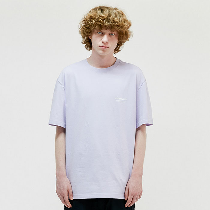 비바스튜디오 반팔티 LOCATION SHORT SLEEVE IS(ISVT07)-LIGHT PURPLE