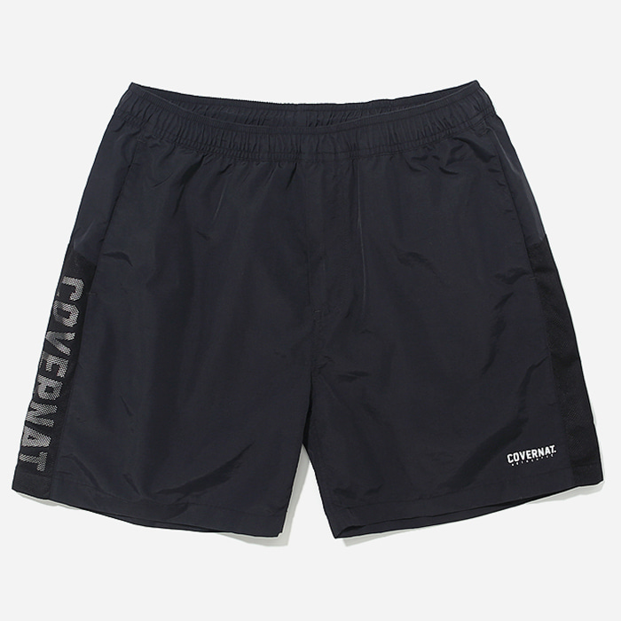 커버낫 바지 JERSEY LOGO SHORT-BLACK
