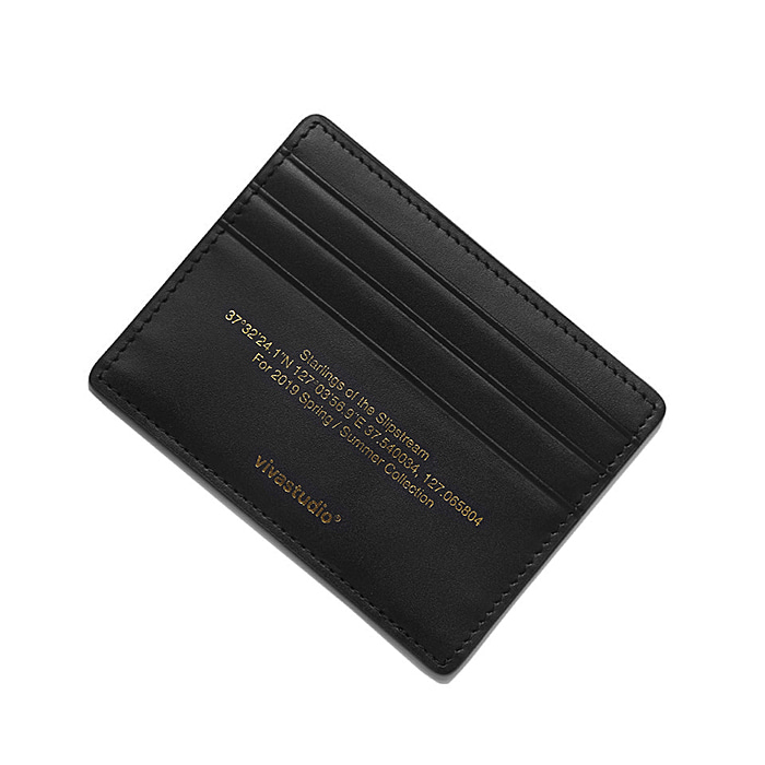 비바스튜디오 지갑 LASER CUTTING CARD WALLET IS-BLACK