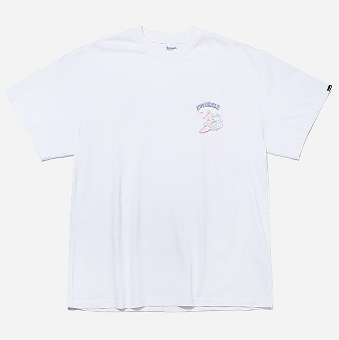 커버낫 반팔티 S/S OVER FIT SURFER MAN TEE-WHITE