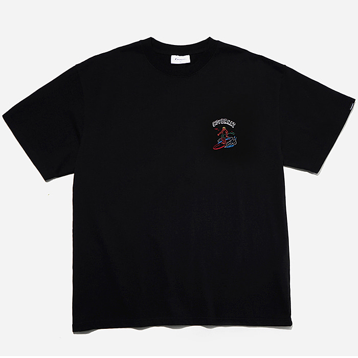 커버낫 반팔티 S/S OVER FIT SURFER MAN TEE-BLACK