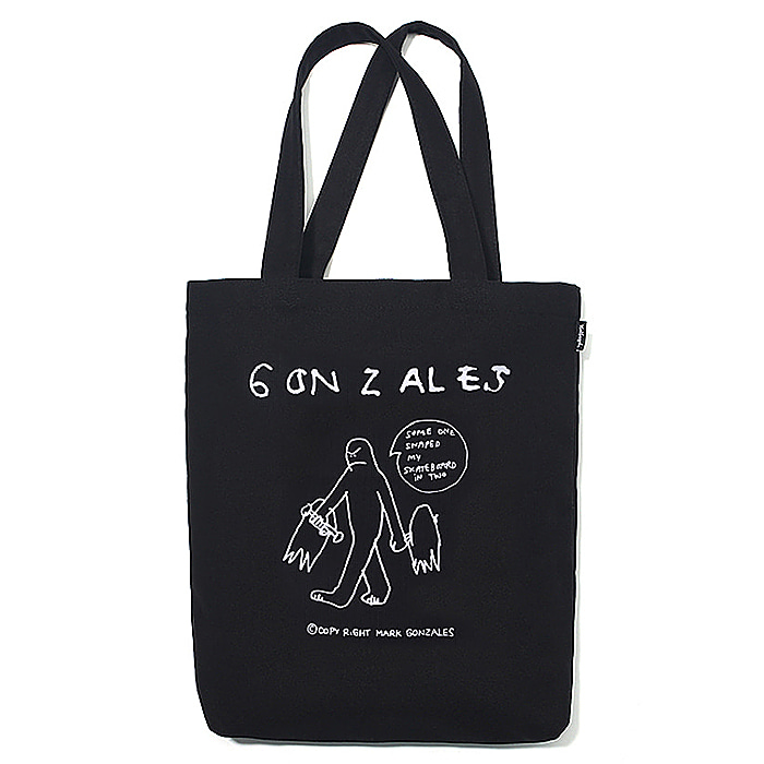 마크곤잘레스 에코백 M/G BROKEN SKATEBOARD DRAWING ECO BAG-BLACK