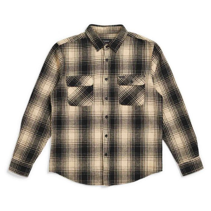 브릭스톤 셔츠 BOWERY L/S FLANNEL-BLACK/BONE