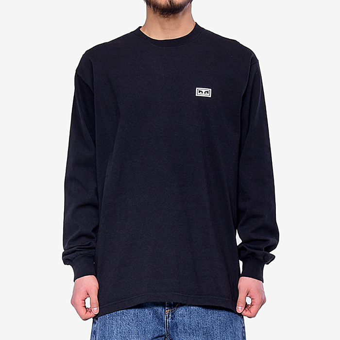 오베이 긴팔티 OBEY EYES 3 L/S-OFF BLACK