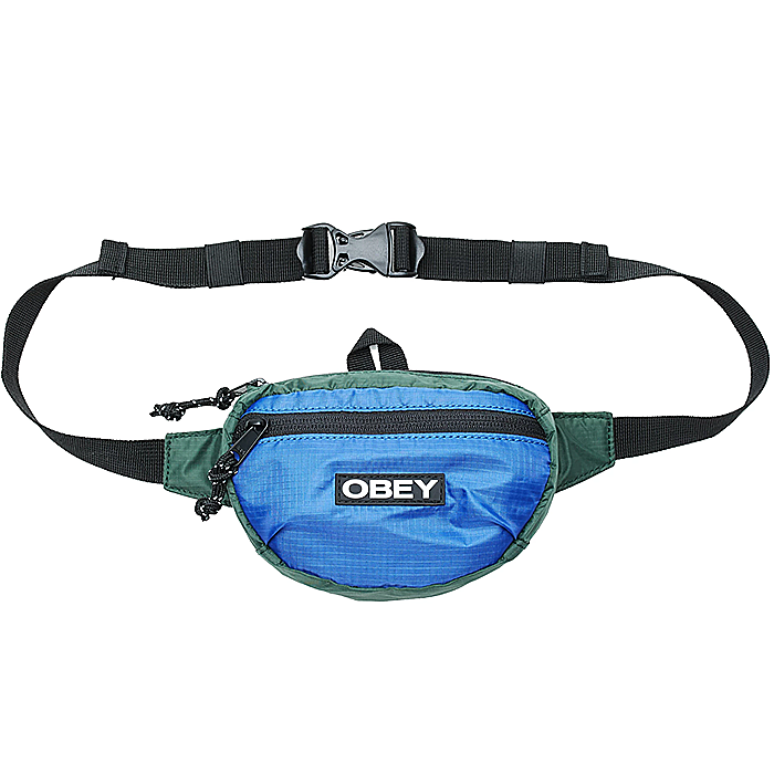 오베이 파우치 COMMUTER WAIST POUCH-BLUE MULTI