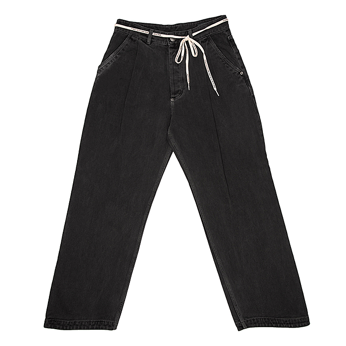 87MM 엠엠엘지 바지 FIGMENT WAVE JEANS-CHARCOAL BLACK
