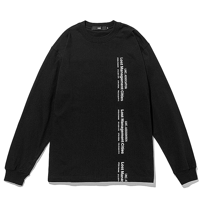 엘엠씨 긴팔티 LMC VERTICAL MIL LONG SLV TEE-BLACK