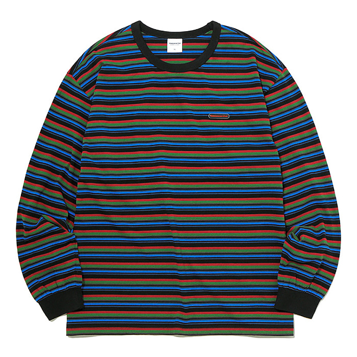 디스이즈네버댓 긴팔티 RUBBER SP STRIPED L/SL TOP-BLACK/OLIVE