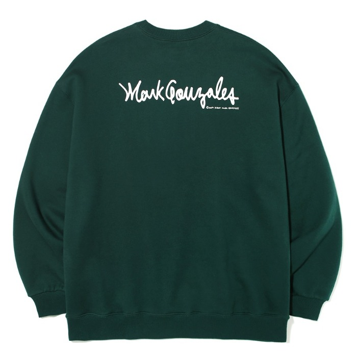 마크곤잘레스 크루넥 M/G SMALL SIGN LOGO CREWNECK-GREEN