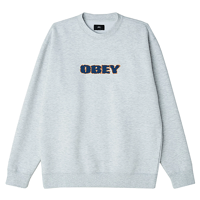 오베이 크루넥 OBEY TO THE CORE-ASH GREY