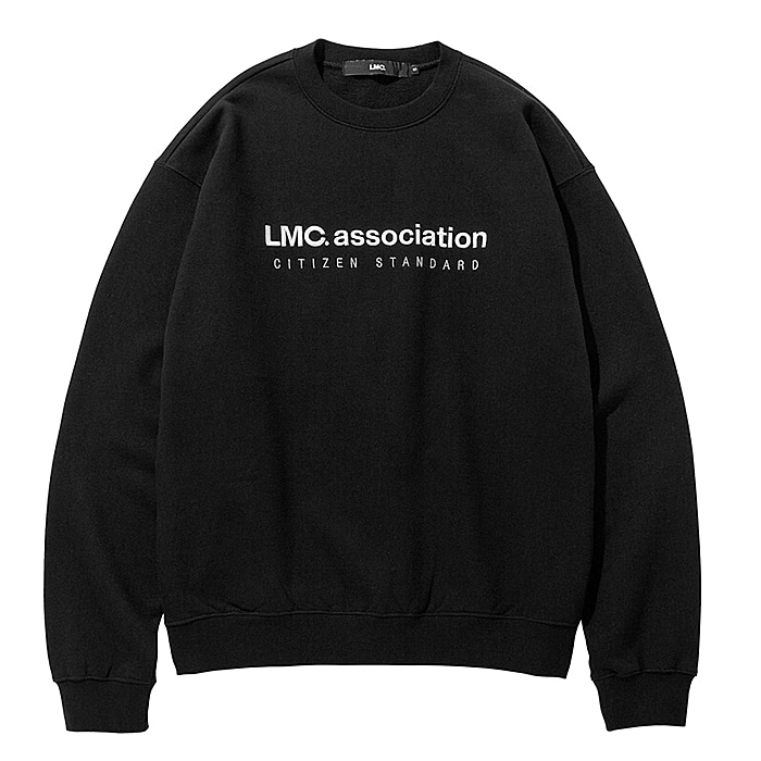 엘엠씨 맨투맨 LMC ASSOCIATION EMB SWEATSHIRT-BLACK