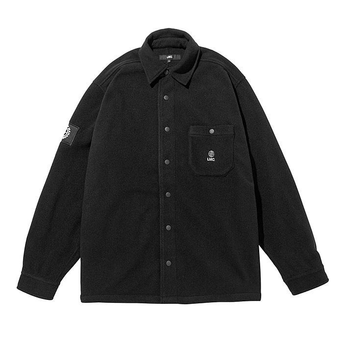 엘엠씨 셔츠 LMC FLEECE SNAP SHIRT-BLACK